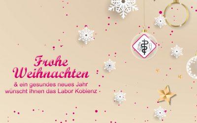 Frohe Weihnachten und ein gesundes neues Jahr!